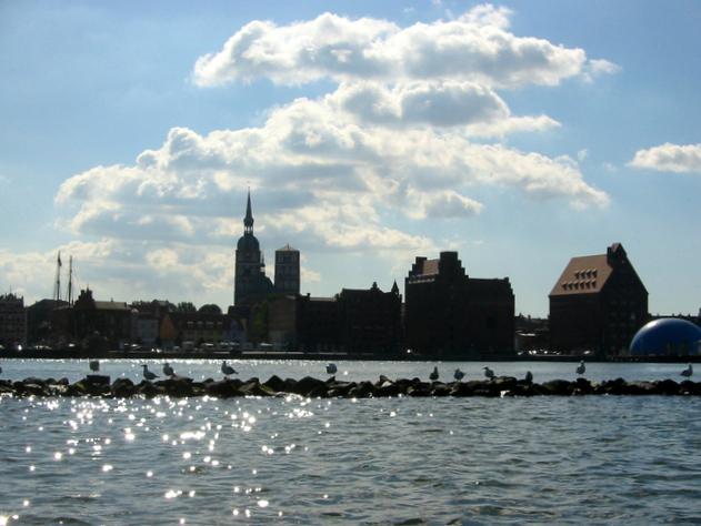 Silhouette Hansestadt Stralsund
